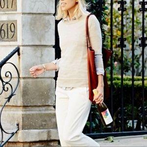 J. CREW Merino Wool Tippi Sweater Ivory Cream {A6}
